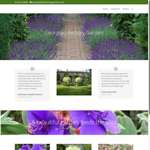 screenshot of garden website image