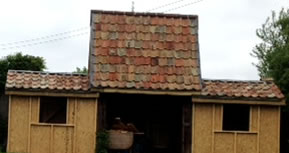 sheds with tiled roofs